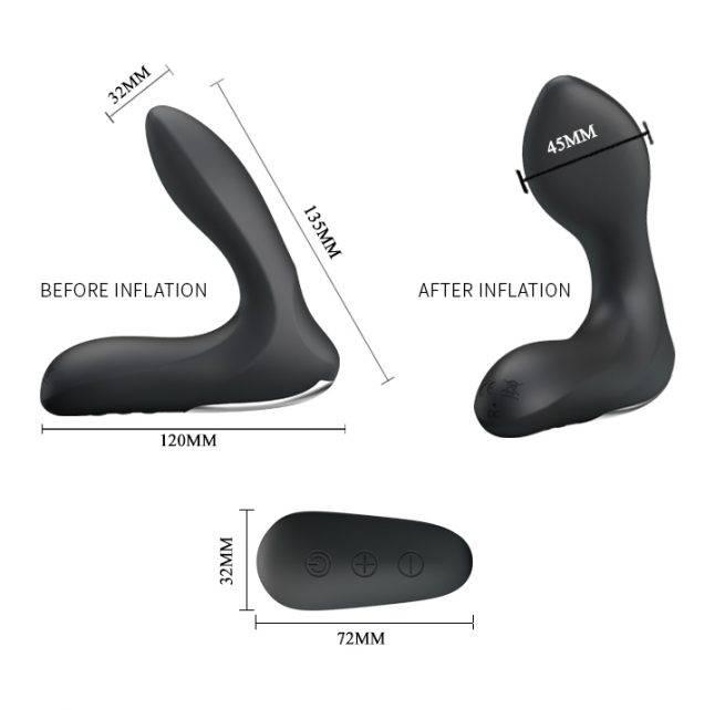 Pretty Love Inflatable Prostate Massager BI-014463W
