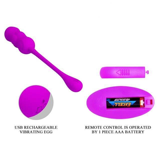 Pretty Love Silicone Vibrating Remote Egg BI-014868W
