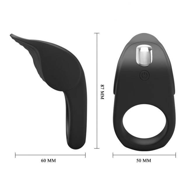 Pretty Love Silicone Vibrating Cock Ring BI-210235